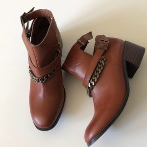 Nasty Gal brown ankle boots